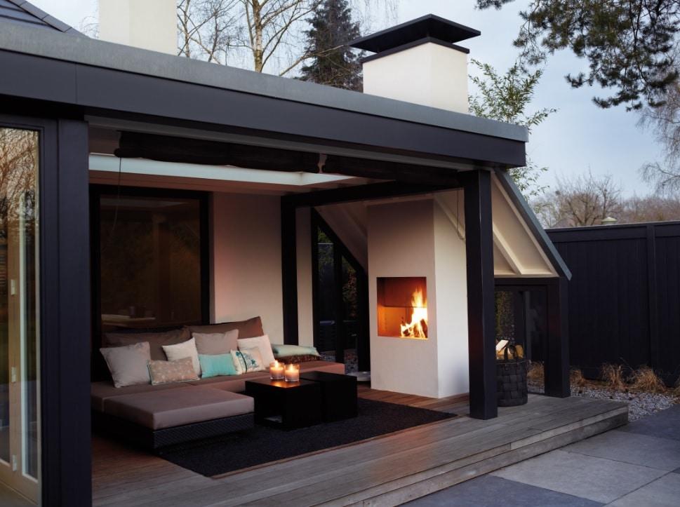 Super Langer buiten genieten met tuin- of terrashaard - Daniëls Openhaarden AJ-61