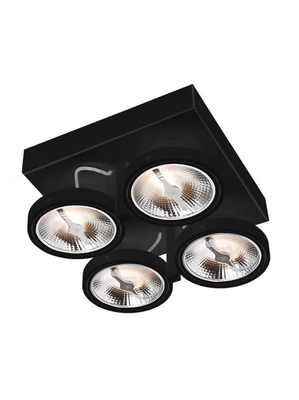Chique 4-Lights AR111 LED Zwart