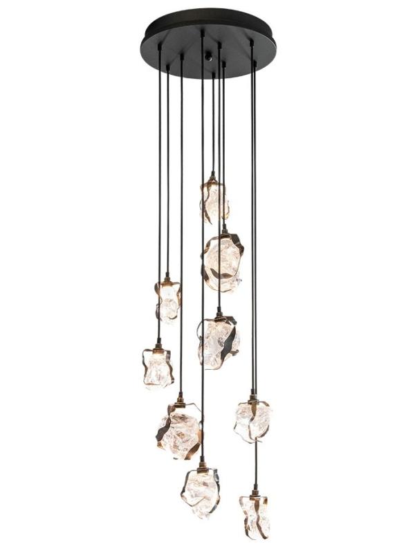 Glass Jewel Pendant Chroom