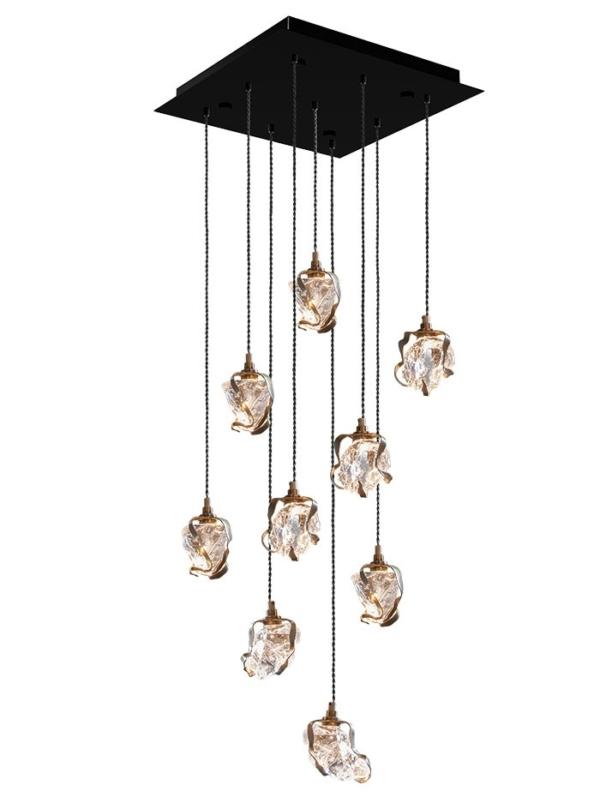 Glass Jewel Pendant met plafondplaat