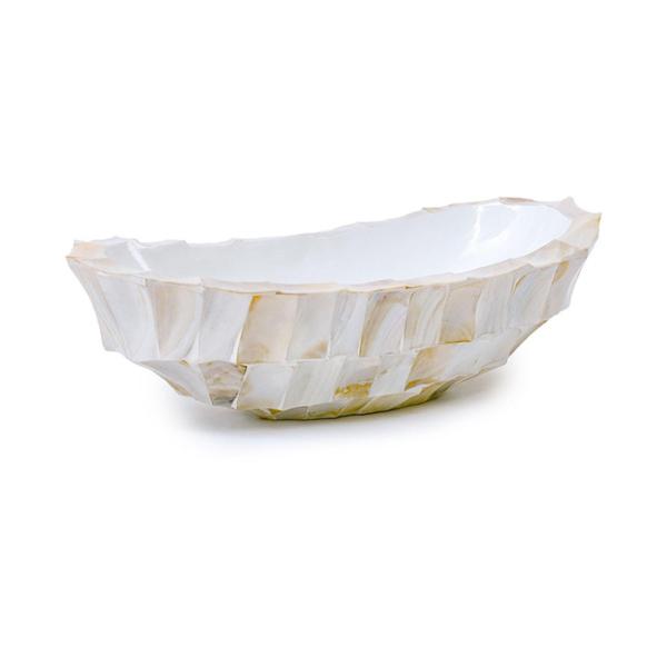 Pot & Vaas Schuit Ovaal Mother of Pearl Crème